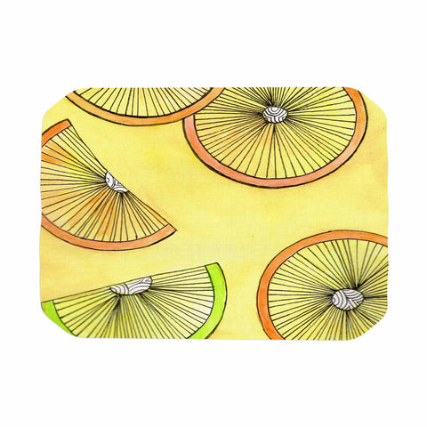 "Rosie Brown ""Lemons And Limes"" Yellow Fruit Place Mat - KESS InHouse"