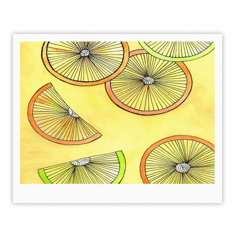 "Rosie Brown ""Lemons And Limes"" Yellow Fruit Fine Art Gallery Print - KESS InHouse"