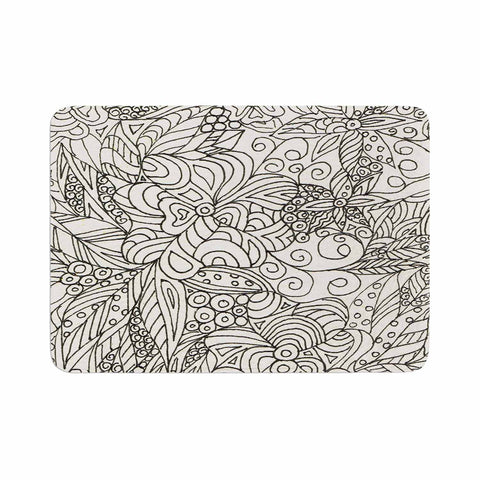 "Rosie Brown ""Zentangle Garden"" Zentangle Memory Foam Bath Mat - Outlet Item - KESS InHouse"