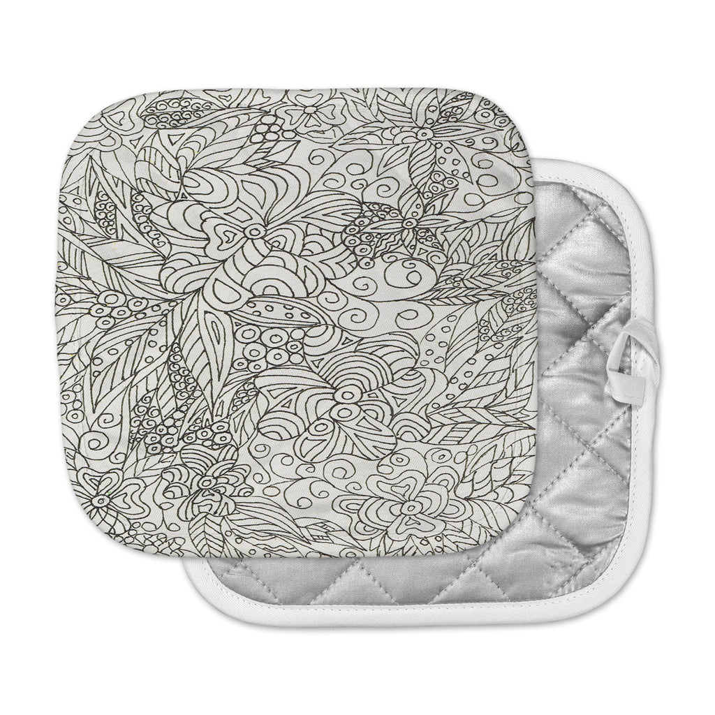 "Rosie Brown ""Zentangle Garden"" Zentangle Pot Holder"