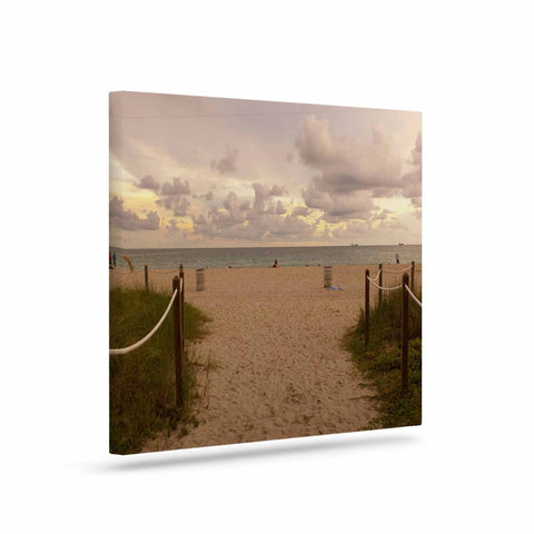 "Rosie Brown ""Walkway To Heaven"" Coastal Photography Canvas Art - KESS InHouse  - 1"