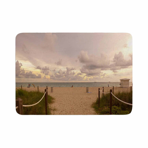"Rosie Brown ""Walkway To Heaven"" Coastal Photography Memory Foam Bath Mat - KESS InHouse"