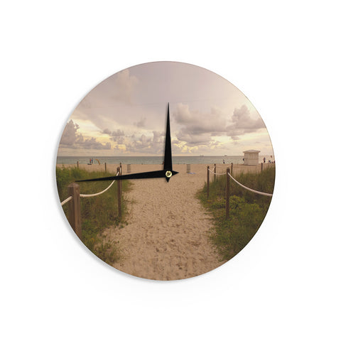 "Rosie Brown ""Walkway To Heaven"" Coastal Photography Wall Clock - KESS InHouse"