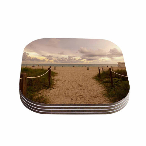 "Rosie Brown ""Walkway To Heaven"" Coastal Photography Coasters (Set of 4)"