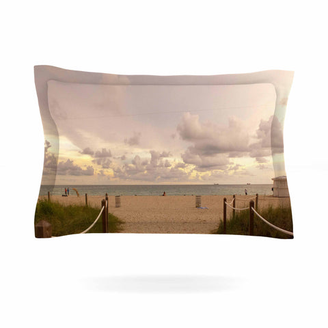 "Rosie Brown ""Walkway To Heaven"" Coastal Photography Pillow Sham - KESS InHouse  - 1"