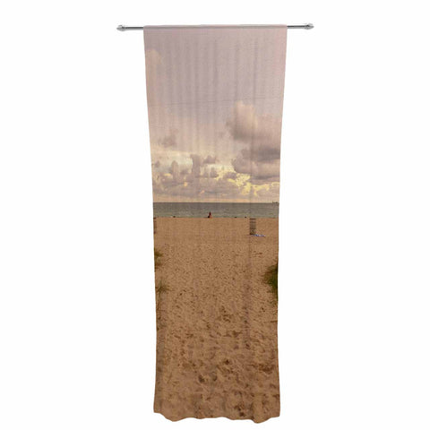 "Rosie Brown ""Walkway To Heaven"" Coastal Photography Decorative Sheer Curtain - KESS InHouse  - 1"