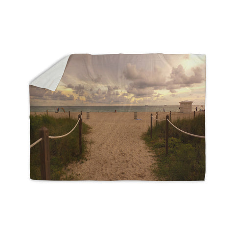 "Rosie Brown ""Walkway To Heaven"" Coastal Photography Sherpa Blanket - KESS InHouse  - 1"