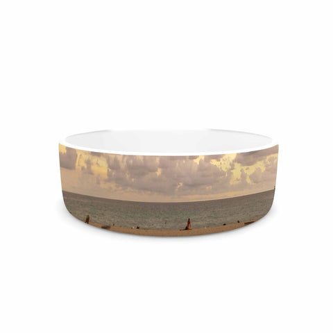"Rosie Brown ""Walkway To Heaven"" Coastal Photography Pet Bowl - KESS InHouse"