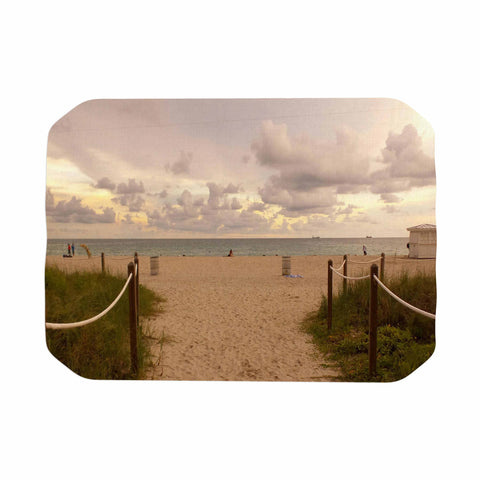 "Rosie Brown ""Walkway To Heaven"" Coastal Photography Place Mat - KESS InHouse"