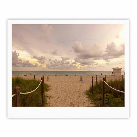 "Rosie Brown ""Walkway To Heaven"" Coastal Photography Fine Art Gallery Print - KESS InHouse"