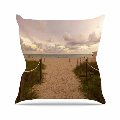 "Rosie Brown ""Walkway To Heaven"" Coastal Photography Throw Pillow - KESS InHouse  - 1"