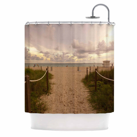 "Rosie Brown ""Walkway To Heaven"" Coastal Photography Shower Curtain - KESS InHouse"
