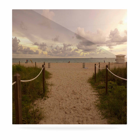 "Rosie Brown ""Walkway To Heaven"" Coastal Photography Luxe Square Panel - KESS InHouse  - 1"