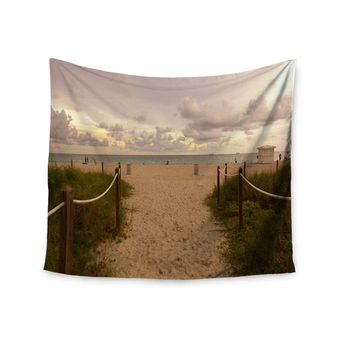 "Rosie Brown ""Walkway To Heaven"" Coastal Photography Wall Tapestry - KESS InHouse"