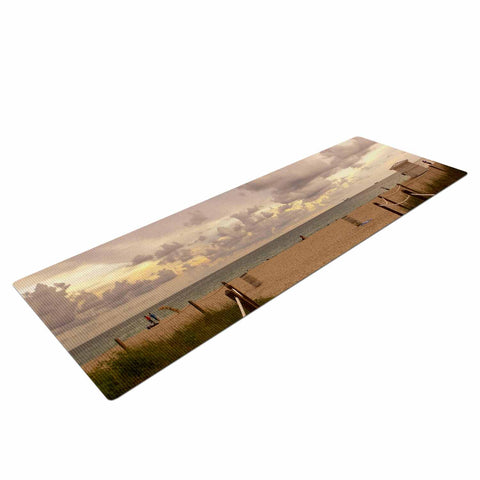 "Rosie Brown ""Walkway To Heaven"" Coastal Photography Yoga Mat - KESS InHouse  - 1"