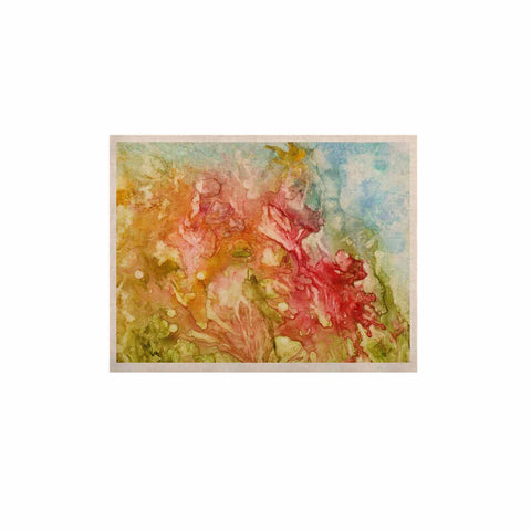 "Rosie Brown ""Fantasy Garden"" Yellow Painting KESS Naturals Canvas (Frame not Included) - KESS InHouse  - 1"