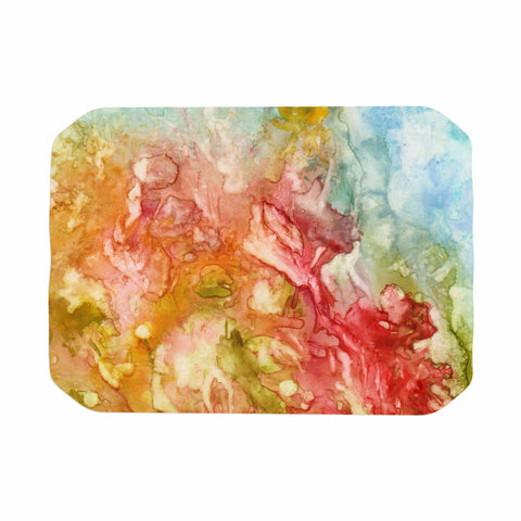 "Rosie Brown ""Fantasy Garden"" Yellow Painting Place Mat - KESS InHouse"