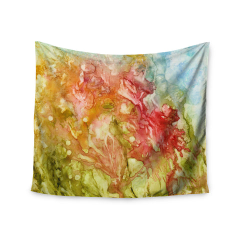 "Rosie Brown ""Fantasy Garden"" Yellow Painting Wall Tapestry - KESS InHouse  - 1"