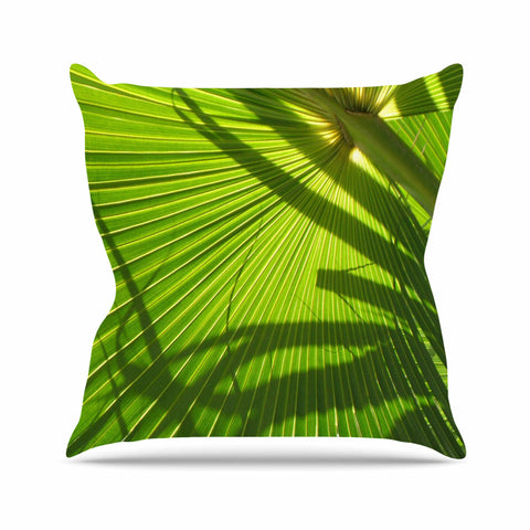 "Rosie Brown ""Palm Shadows"" Green Lime Throw Pillow"