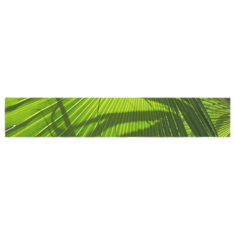 "Rosie Brown ""Palm Shadows"" Green Lime Table Runner - KESS InHouse  - 1"