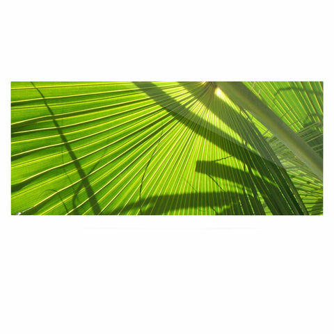 "Rosie Brown ""Palm Shadows"" Green Lime Luxe Rectangle Panel - KESS InHouse  - 1"