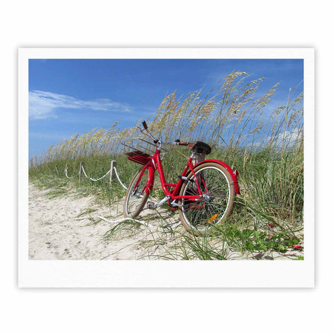 "Rosie Brown ""The Bike"" Blue Red Photography Fine Art Gallery Print"