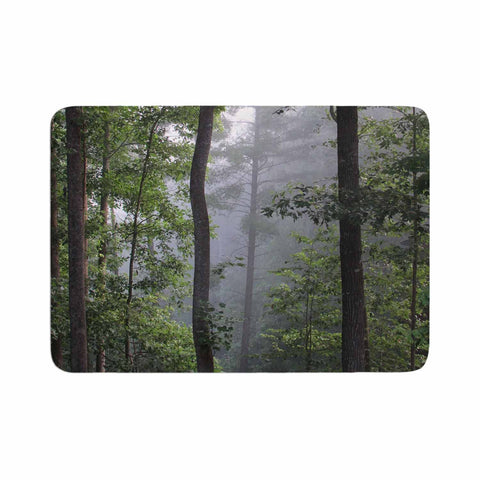 "Rosie Brown ""Morning Fog"" Green Gray Photography Memory Foam Bath Mat"