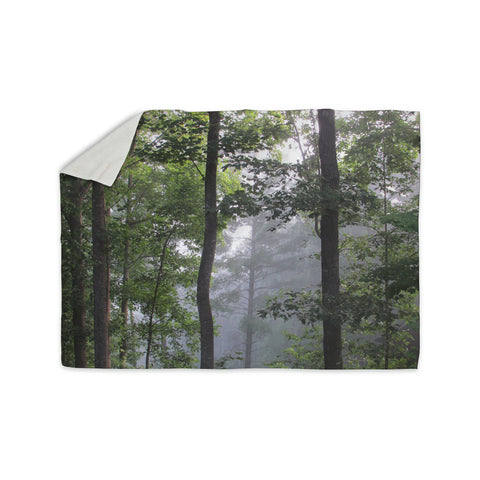 "Rosie Brown ""Morning Fog"" Green Gray Photography Sherpa Blanket"