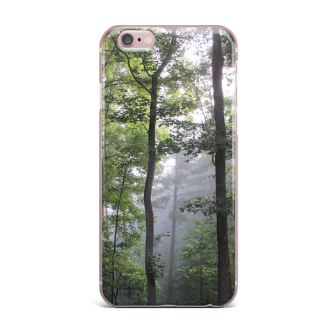 "Rosie Brown ""Morning Fog"" Green Gray Photography iPhone Case"