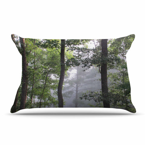 "Rosie Brown ""Morning Fog"" Green Gray Photography Pillow Sham"