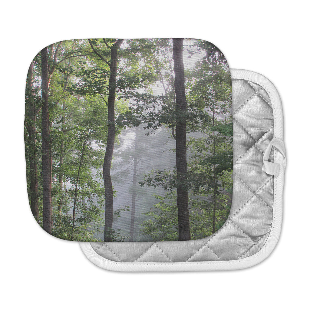 "Rosie Brown ""Morning Fog"" Green Gray Photography Pot Holder"