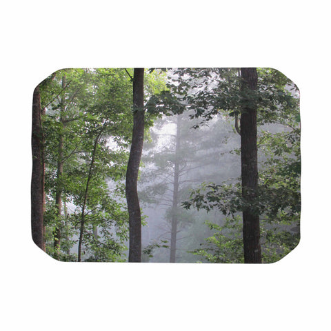 "Rosie Brown ""Morning Fog"" Green Gray Photography Place Mat"