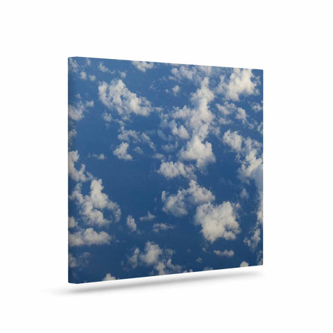 "Rosie Brown ""Cotton Clouds"" Blue White Photography Canvas Art"