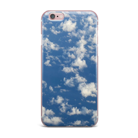 "Rosie Brown ""Cotton Clouds"" Blue White Photography iPhone Case"