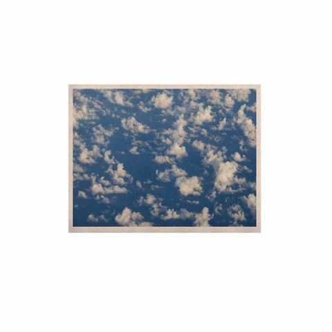 "Rosie Brown ""Cotton Clouds"" Blue White Photography KESS Naturals Canvas (Frame not Included)"