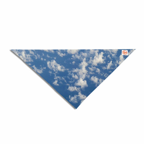 "Rosie Brown ""Cotton Clouds"" Blue White Photography Pet Bandana"