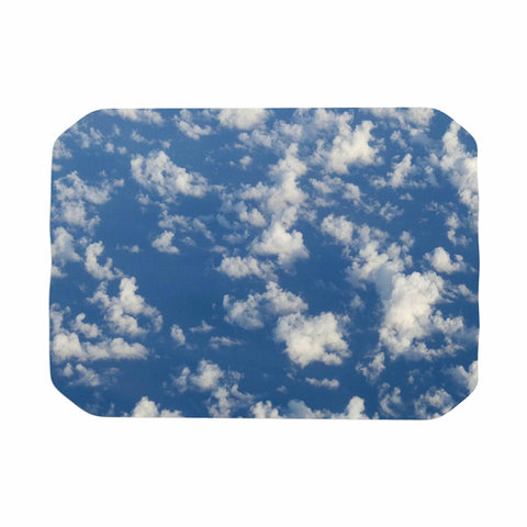 "Rosie Brown ""Cotton Clouds"" Blue White Photography Place Mat"