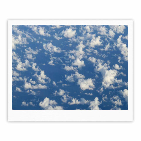 "Rosie Brown ""Cotton Clouds"" Blue White Photography Fine Art Gallery Print"