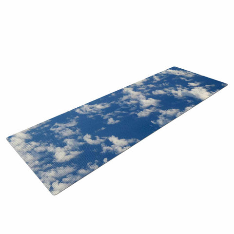 "Rosie Brown ""Cotton Clouds"" Blue White Photography Yoga Mat"