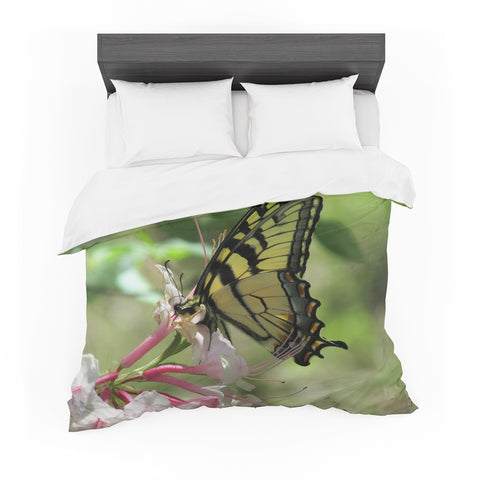 "Rosie Brown ""Gibbs Garden Butterfly"" Green Yellow Photography Featherweight Duvet Cover"