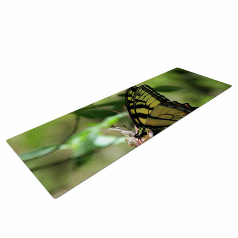 "Rosie Brown ""Gibbs Garden Butterfly"" Green Yellow Photography Yoga Mat"