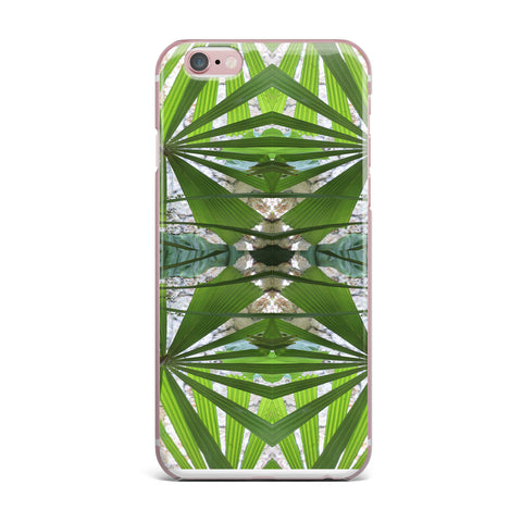 "Rosie Brown ""Palm Fronds"" Green Gray Digital iPhone Case"