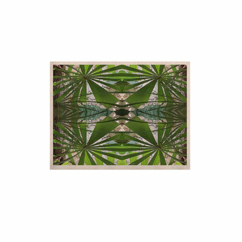 "Rosie Brown ""Palm Fronds"" Green Gray Digital KESS Naturals Canvas (Frame not Included)"