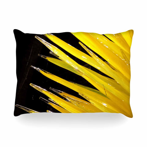 "Rosie Brown ""Glass Art"" Yellow Black Photography Oblong Pillow"