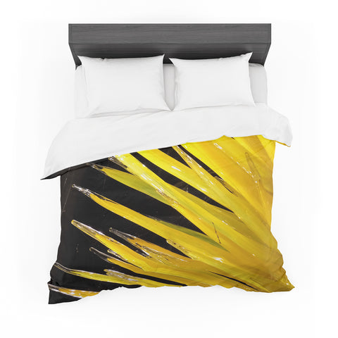 "Rosie Brown ""Glass Art"" Yellow Black Photography Featherweight Duvet Cover"