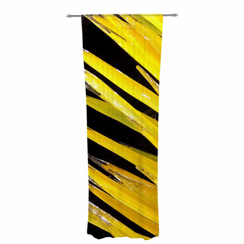 "Rosie Brown ""Glass Art"" Yellow Black Photography Decorative Sheer Curtain"