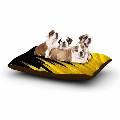 "Rosie Brown ""Glass Art"" Yellow Black Photography Dog Bed"