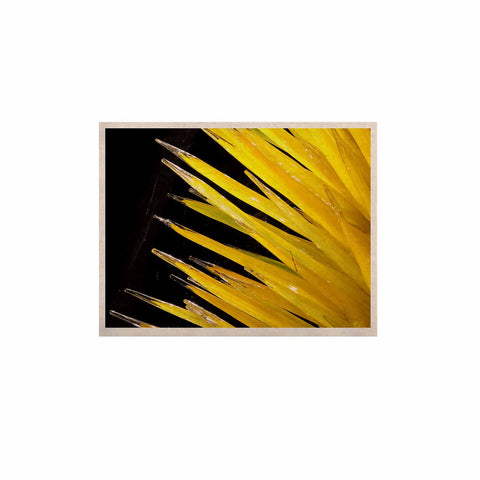 "Rosie Brown ""Glass Art"" Yellow Black Photography KESS Naturals Canvas (Frame not Included)"