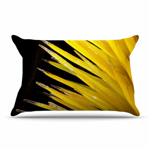 "Rosie Brown ""Glass Art"" Yellow Black Photography Pillow Sham"