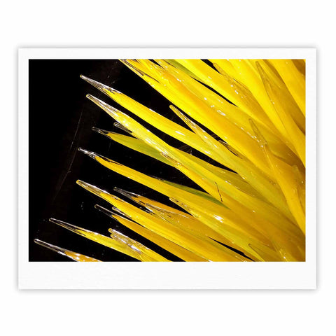 "Rosie Brown ""Glass Art"" Yellow Black Photography Fine Art Gallery Print"